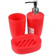 Набор аксессуаров для ванной, пластиковый, 3 предмета.
