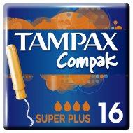 Тампоны женские «Tampax» Super Plus Duo, с аппликатором 16 шт.