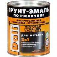 Грунт-эмаль «Dali» по ржавчине 3 в 1, коричневый, 0.75 л