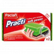 Губки для тефлона «Paclan» Practi Soft Power, 2 шт.