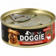 Консервы мясные для собак «Doggie» говядина+печень, 90 г.