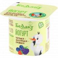 Йогурт питьевой «Беллакт» черника, земляника, ежевика, 3%, 100 г