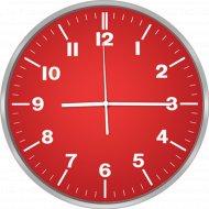 Настенные часы «Centek» СТ-7100, red