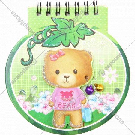 Блокнот «Плюшевый медвежонок» фигурный, 50 листов.