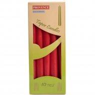 Набор свечей декоративных «Provence» конических красных, 24х2 см, 10 шт.