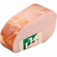 Ветчина из свинины «Домашняя» варено-копченая, 1 кг., фасовка 0.6-0.7 кг