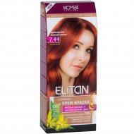 Крем-краска для волос «Элитан» 7.44 ирландский медный шатен.