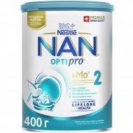 Смесь сухая «Nestle» NAN 2, Optipro, с 6 месяцев, 400 г