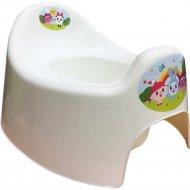 Горшок детский «LittleAngel» Start Малышарики, молочный