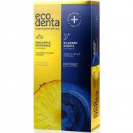 Набор зубных паст «Ecodenta» pineapple mornings and night, 100x2 мл.