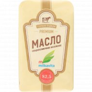 Масло сладкосливочное «Milkavita» несоленое, 82.5%, 180 г.
