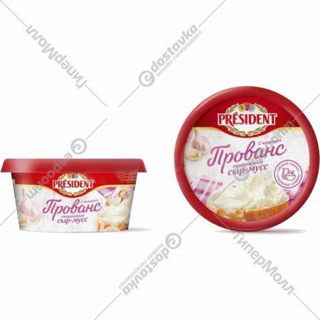 Сыр-мусс творожный «President» Прованс, с чесноком, 62%, 120 г.