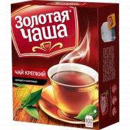 Чай черный «Золотая Чаша» крепкий, 100 пакетиков.