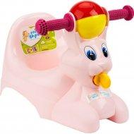 Горшок-игрушка «LittleAngel» Зайчик, розовый