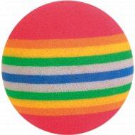 Игрушка «Trixie» для кошки каучуковая, мячик радужный 3.5см ,4шт.