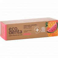 Зубная паста «Ecodenta» certified organic juicy fruit kids, 75 мл