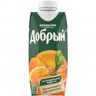 Нектар «Добрый» апельсиновый, 0.33 л.