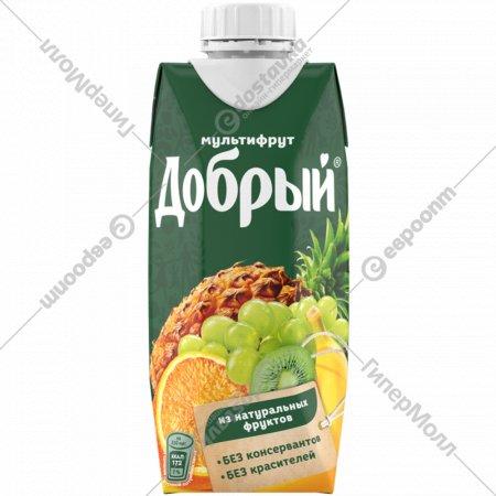 Нектар «Добрый» мультифрукт, 0.33 л.