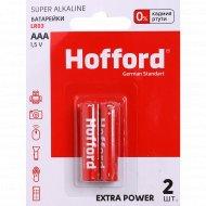 Элементы питания «Hofford» LR 03, ААА, 1.5 V, 2 шт