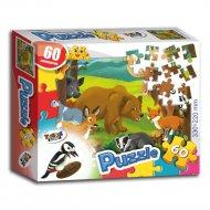 Пазл «Лесные животные» 60 элементов.