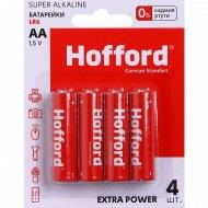 Элементы питания «Hofford» LR 6, АА, 1.5 V, 4 шт.