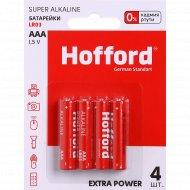 Элементы питания «Hofford» LR 03, ААА, 1.5 V, 4 шт