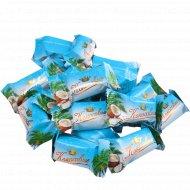 Конфеты глазированные «Кокосовые» с молочным корпусом, 1 кг., фасовка 0.3-0.4 кг