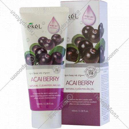 Гель-скатка «Ekel» очищающая для лица с экстрактом ягод асаи, 100 мл.