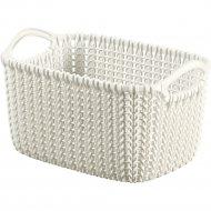 Корзина «Curver» knit rect xs, 226394,белый, 3 л, 250x175x140 мм.