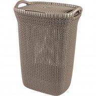 Корзина «Curver» knit laundry hamper, 228410, 57 л, 45x34x61 см.