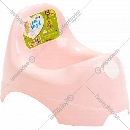Горшок детский «Cool» розовый пастельный.