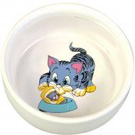 Миска «Trixie» керамическая, для кошек с изображением, 300 мл.