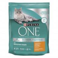 Корм сухой для взрослых кошек «Purina One» курица и злаки, 750 г