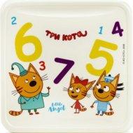 Детская тарелка «Три кота» Обучайка, 450мл.