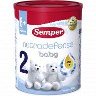 Молочная смесь «Semper 2» Baby Nutradefense, с 6 месяцев, 400 г.