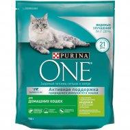 Корм сухой для домашних кошек «Purina One» индейка и злаки, 750 г.