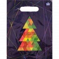 Мешок с ручками «Цветная елочка» 30х23 см.