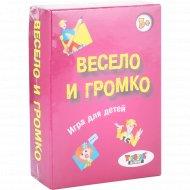 Карточная игра «Весело и громко» для детей, 100 карточек.