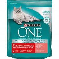 Корм для стерилизованных кошек «Purina One» лосось и пшеница, 750 г.