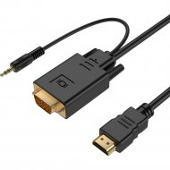 Кабель-адаптер «Gembird» HDMI-VGA A-HDMI-VGA-03-6, 1.8 м.