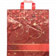 Мешок с ручками «Шары на красном» 43,5х38 см.
