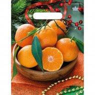 Мешок полиэтиленовый «Много мандаринов» 30х23 см.
