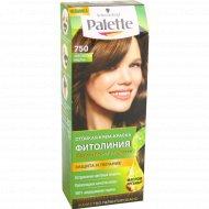 Крем-краска для волос «Palette» фитолиния 750 золотистый каштан.