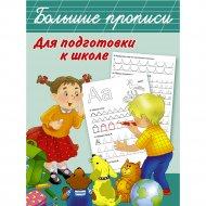 Книга «Большие прописи для подготовки к школе».