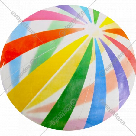 Мяч пляжный надувной пластмассовый 107 см.