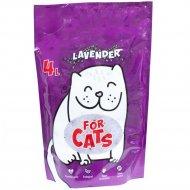 Силикагелевый наполнитель «For Cats» с ароматом лаванды, 4 л.