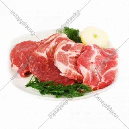 Шейная часть свинины, охлажденная, 1 кг., фасовка 0.8-1 кг