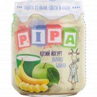 Пюре «Pipa» из яблок и банана с козьим йогуртом, 100 г.