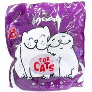 Силикагелевый наполнитель «For Cats» с ароматом лаванды, 8 л.