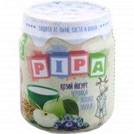 Пюре «Pipa» из яблок и черники с козьим йогуртом, 100 г.